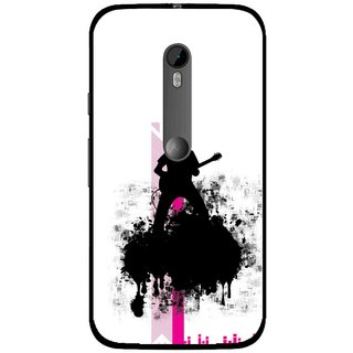 Snooky Printed Music In Air Mobile Back Cover For Moto G3 - Multi
