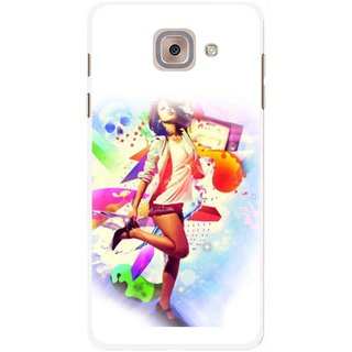 Snooky Printed Shopping Girl Mobile Back Cover For Samsung Galaxy J7 Max - Multicolour