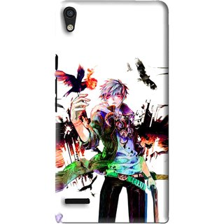 Snooky Printed Angry Man Mobile Back Cover For Huawei Ascend P6 - Multi
