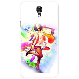 Snooky Printed Shopping Girl Mobile Back Cover For Lg X Screen - Multicolour