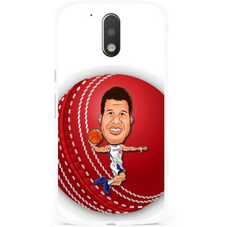 Snooky Printed Cricket Club Mobile Back Cover For Moto G4 Plus - Multi