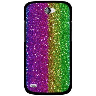 Snooky Printed Sparkle Mobile Back Cover For Gionee Pioneer P3 - Multicolour