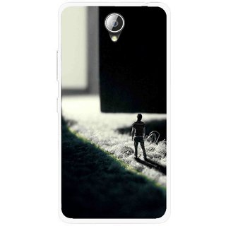 Snooky Printed God Door Mobile Back Cover For Lenovo A5000 - Black