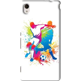Snooky Printed Footbal Mania Mobile Back Cover For Sony Xperia M4 - Multi