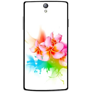 Snooky Printed Colorfull Flowers Mobile Back Cover For Oppo Find 5 Mini - Multi