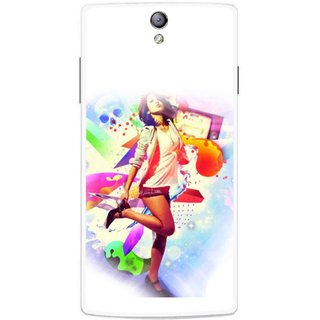 Snooky Printed Shopping Girl Mobile Back Cover For Oppo Find 5 Mini - Multicolour