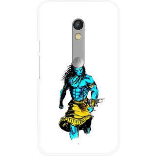 Snooky Printed Bhole Nath Mobile Back Cover For Motorola Moto X Play - Multi