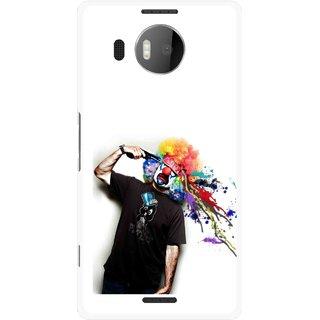 Snooky Printed Shooting Joker Mobile Back Cover For Microsoft Lumia 950 XL - Multicolour
