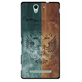 Snooky Printed Eagle Mobile Back Cover For Sony Xperia C3 - Multicolour