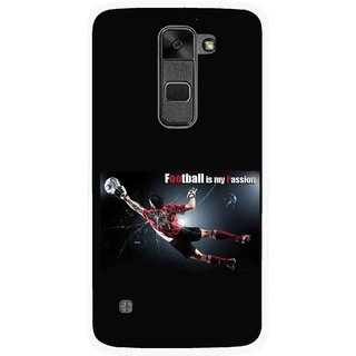Snooky Printed Football Passion Mobile Back Cover For Lg Stylus 2 - Multi