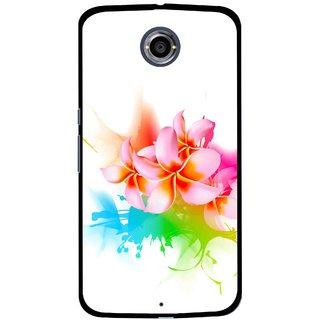 Snooky Printed Colorfull Flowers Mobile Back Cover For Motorola Nexus 6 - Multi