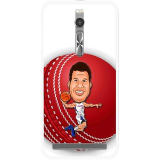 Snooky Printed Cricket Club Mobile Back Cover For Asus Zenfone 2 - Multi