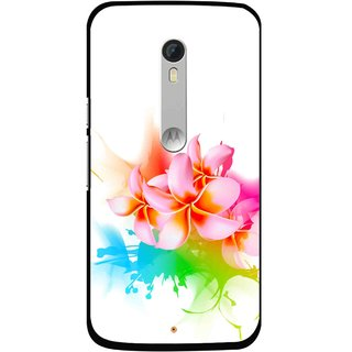 Snooky Printed Colorfull Flowers Mobile Back Cover For Motorola Moto X Style - Multi