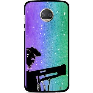 Snooky Printed Sparkling Boy Mobile Back Cover For Motorola Moto Z2 Play  - Multicolour
