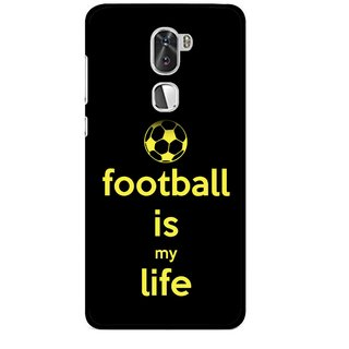 Snooky Printed Football Is Life Mobile Back Cover For Coolpad Cool 1 - Multi