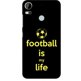 Snooky Printed Football Is Life Mobile Back Cover For HTC Desire 10 Pro - Multi