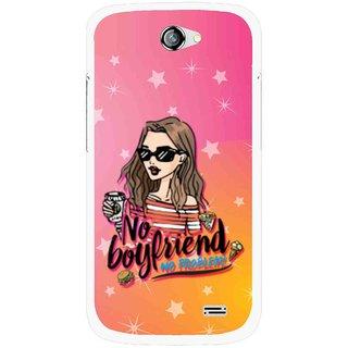 Snooky Printed No Boyfriend Mobile Back Cover For Gionee Pioneer P2 - Multicolour