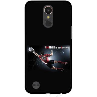 Snooky Printed Football Passion Mobile Back Cover For LG K10 2017 - Multi