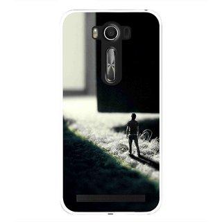 Snooky Printed God Door Mobile Back Cover For Asus Zenfone 2 Laser ZE500KL - Black
