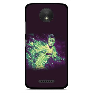 Snooky Printed Running Boy Mobile Back Cover For Motorola Moto C Plus - Multicolour