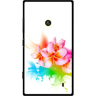 Snooky Printed Colorfull Flowers Mobile Back Cover For Nokia Lumia 520 - Multi
