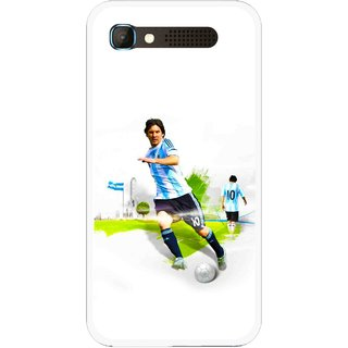 Snooky Printed Football Mania Mobile Back Cover For Intex Aqua Y2 Pro - White