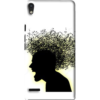 Snooky Printed Music Fond Mobile Back Cover For Huawei Ascend P6 - Multi