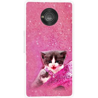 Snooky Printed Pink Cat Mobile Back Cover For Micromax Yu Yuphoria - Multicolour