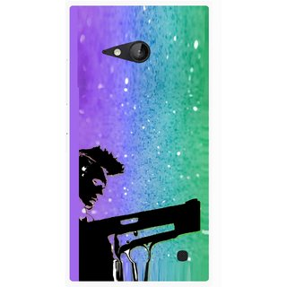 Snooky Printed Sparkling Boy Mobile Back Cover For Nokia Lumia 730 - Multicolour