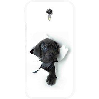 Snooky Printed Cute Dog Mobile Back Cover For Lenovo Zuk Z1 - White