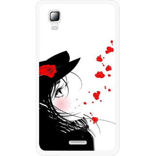 Snooky Printed Mistery Girl Mobile Back Cover For Micromax Canvas Doodle 3 A102 - Multicolour