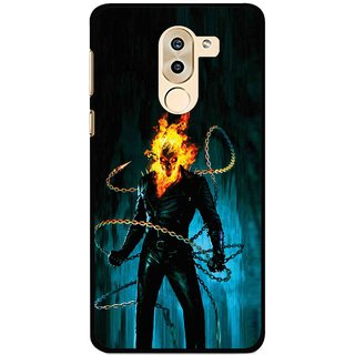 Snooky Printed Ghost Rider Mobile Back Cover For Huawei Honor 6X - Multi