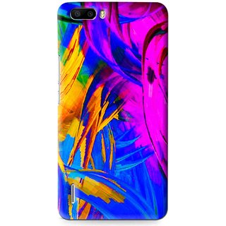 Snooky Printed Color Bushes Mobile Back Cover For Huawei Honor 6 Plus - Multi