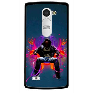 Snooky Printed Live In Attitude Mobile Back Cover For Lg Leon - Blue