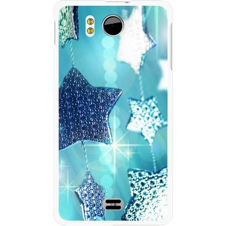 Snooky Printed Sparkling Stars Mobile Back Cover For Micromax Canvas DOODLE A111 - Multicolour