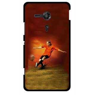 Snooky Printed Football Mania Mobile Back Cover For Sony Xperia SP - Multicolour