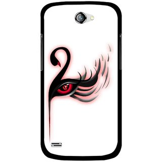 Snooky Printed Eye Art Mobile Back Cover For Gionee Pioneer P3 - Multicolour
