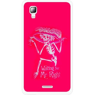 Snooky Printed Mr.Right Mobile Back Cover For Micromax Canvas Doodle 3 A102 - Multicolour