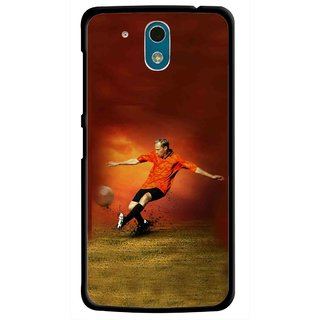 Snooky Printed Football Mania Mobile Back Cover For HTC Desire 326G - Multicolour