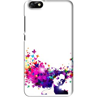Snooky Printed Flowery Girl Mobile Back Cover For Huawei Honor 4X - Multi