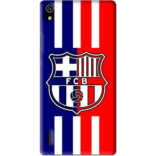 Snooky Printed Football Club Mobile Back Cover For Huawei Ascend P7 - Multi