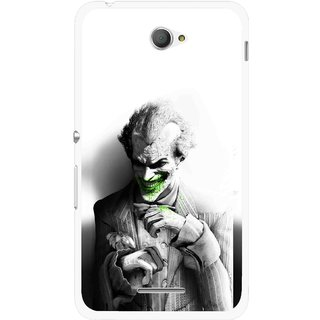 Snooky Printed Wilian Mobile Back Cover For Sony Xperia E4 - White
