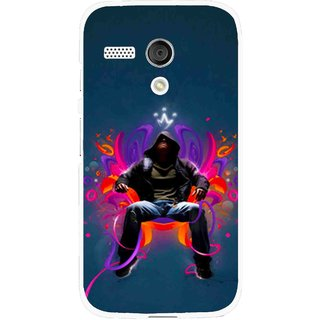 Snooky Printed Live In Attitude Mobile Back Cover For Moto G - Blue