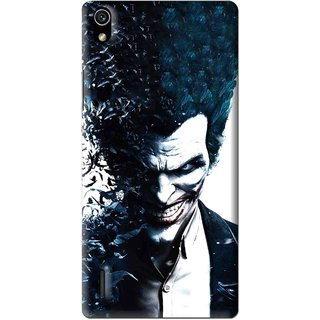 Snooky Printed Freaking Joker Mobile Back Cover For Huawei Ascend P7 - Multi