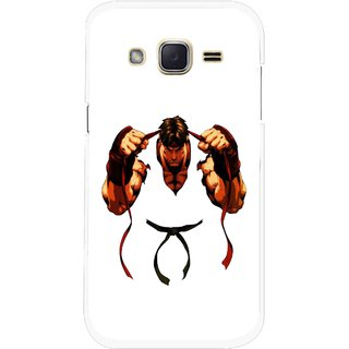 Snooky Printed Karate Boy Mobile Back Cover For Samsung Galaxy j2 - Multicolour