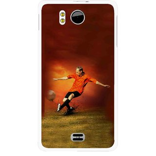 Snooky Printed Football Mania Mobile Back Cover For Micromax Canvas DOODLE A111 - Multicolour