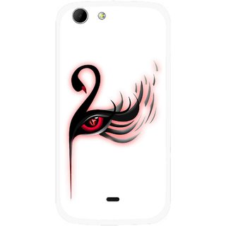 Snooky Printed Eye Art Mobile Back Cover For Micromax Canvas 4 A210 - Multicolour