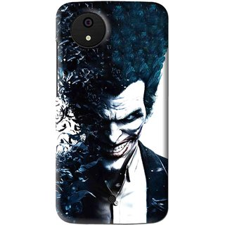 Snooky Printed Freaking Joker Mobile Back Cover For Micromax Canvas Android One - Multi