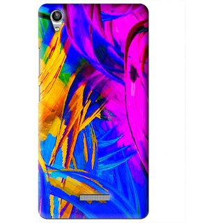 Snooky Printed Color Bushes Mobile Back Cover For Lava Pixel V1 - Multi