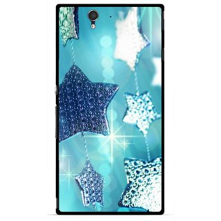 Snooky Printed Sparkling Stars Mobile Back Cover For Sony Xperia Z - Multicolour
